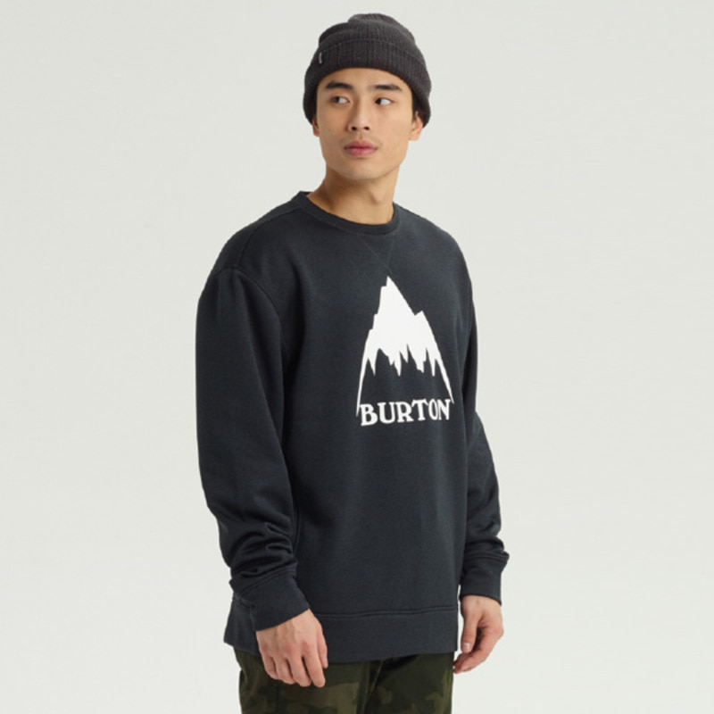 19 BURTON M OAK CREW TRUE BLACK HEATHER 버튼 남성 보드 크루넥