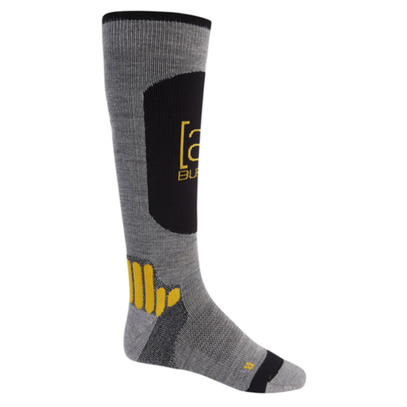 2021 BURTON AK ENDURANCE SOCK Gray Heather 버튼 성인 양말