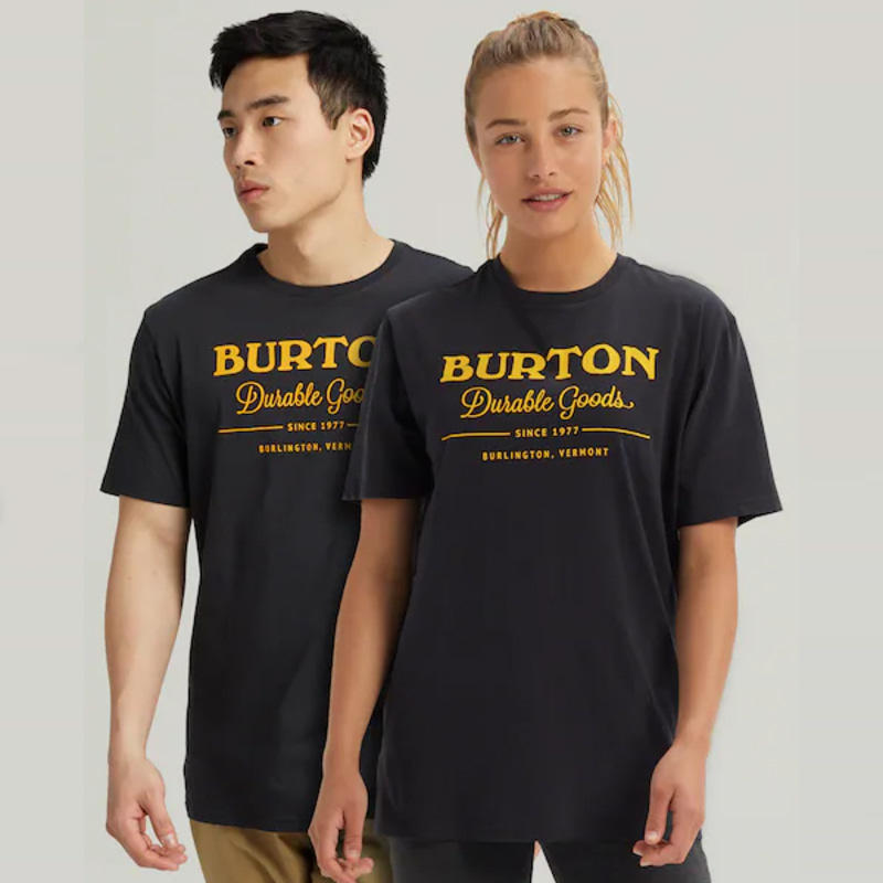 2122 버튼 BURTON DURABLE GOODS SHORT SLEEVE T-SHIRT True Black