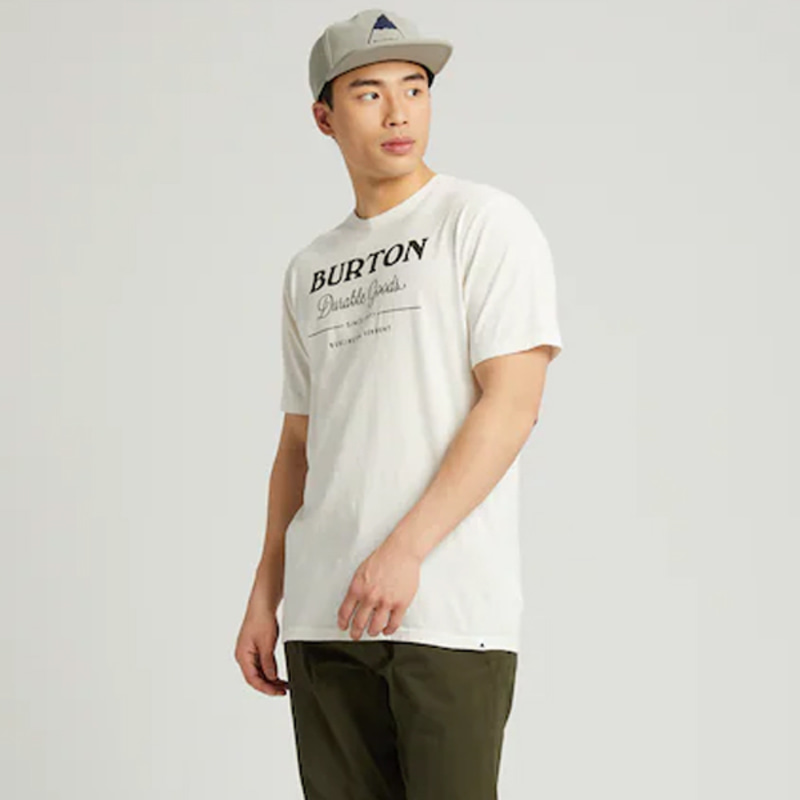 2122 버튼 BURTON DURABLE GOODS SHORT SLEEVE T-SHIRT Stout White