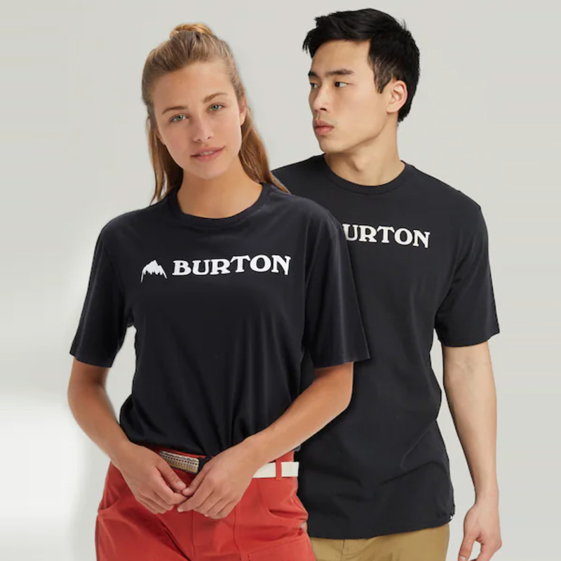 2122 버튼 BURTON HORIZONTAL MOUNTAIN SHORT SLEEVE T-SHIRT True Black