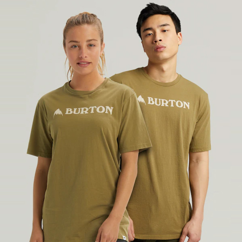 2122 버튼 BURTON HORIZONTAL MOUNTAIN SHORT SLEEVE T-SHIRT Martini Olive