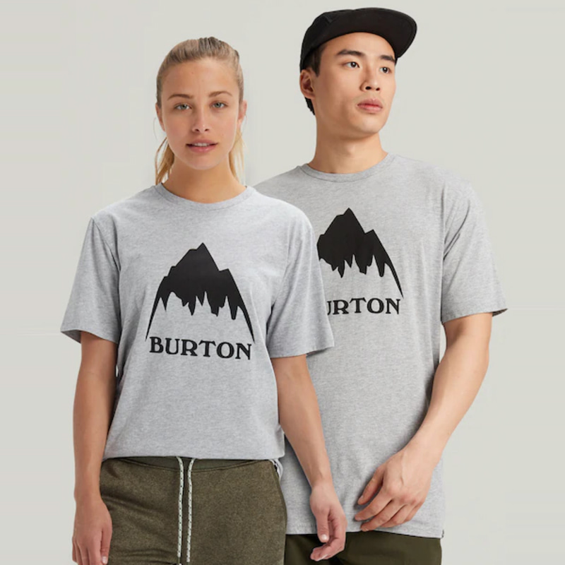 2122 버튼 BURTON CLASSIC MOUNTAIN HIGH SHORT SLEEVE T-SHIRT Gray Heather