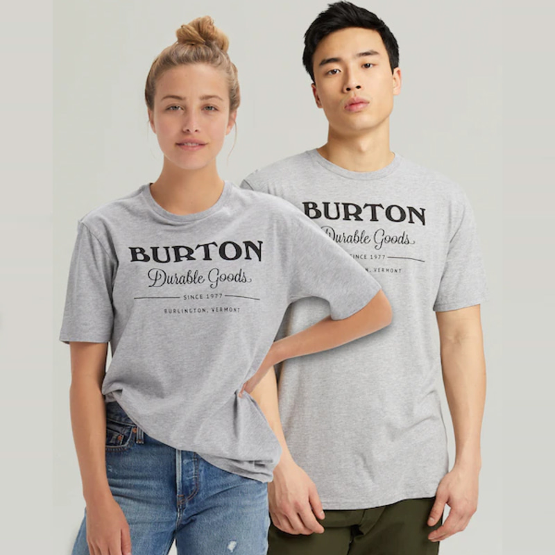 2122 버튼 BURTON DURABLE GOODS SHORT SLEEVE T-SHIRT Gray Heather